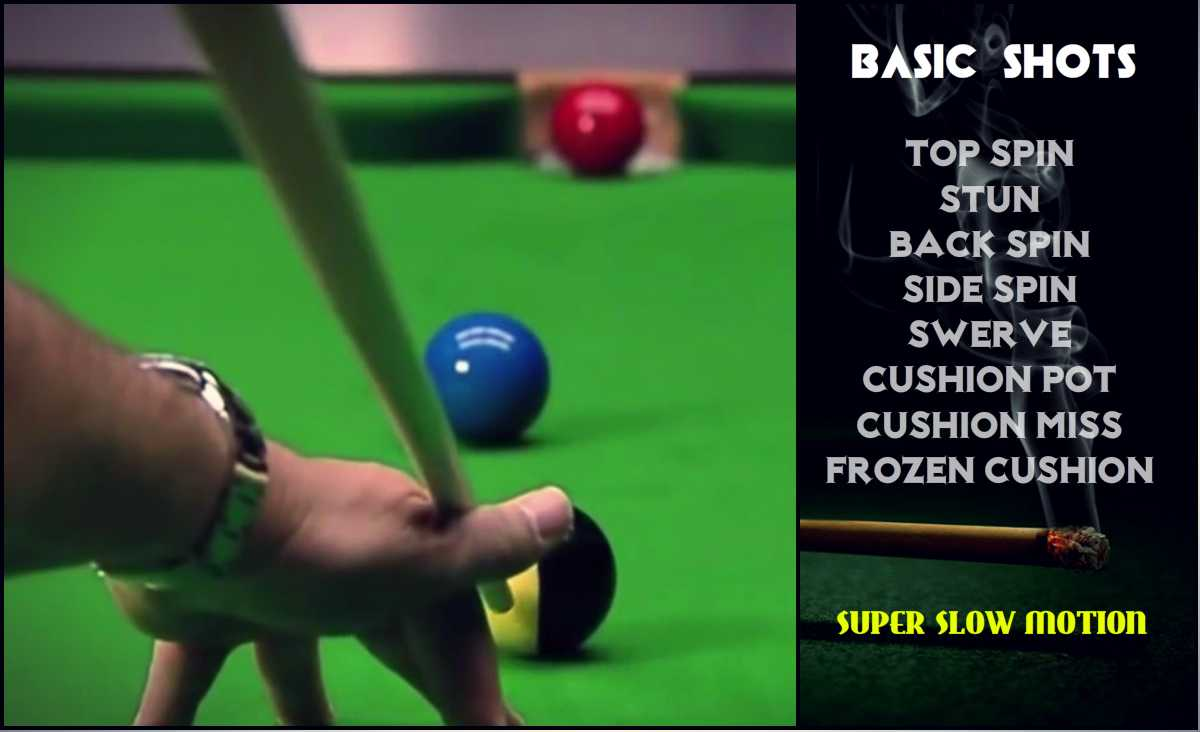 Snooker Basic Shots in Slow Motion